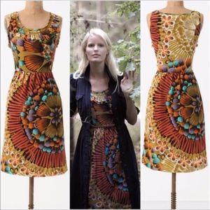 Anthropologie-edme & esyllte Silk BOHO Midi Dress